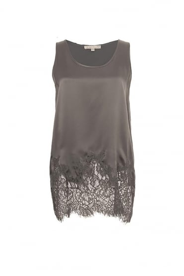 Goldhawk Women's GH739 Hammered Silk Lace Tank
