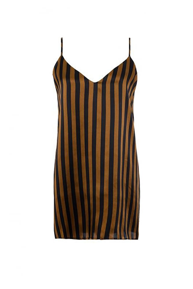 GOLDHAWK Women's GH762 Stripe Brown Cami
