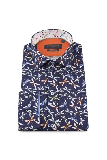 Guide London Men's 74539 Dragonfly Navy Shirt