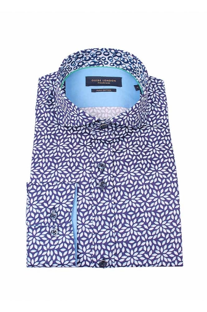 GUIDE LONDON Men's 74551 Navy Shirt