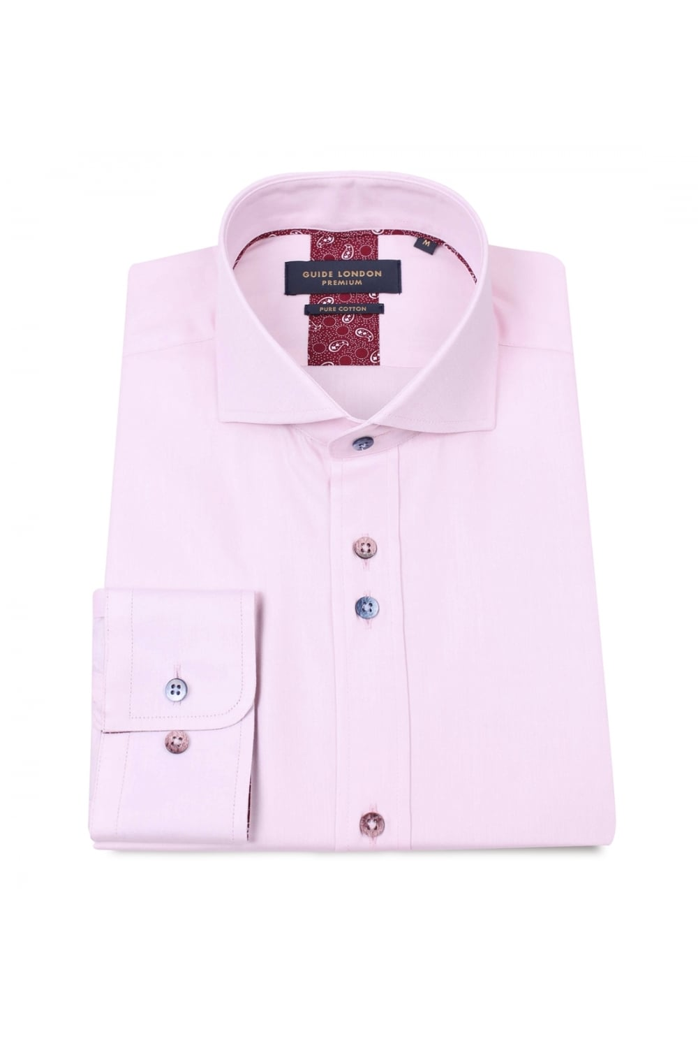 9eee847ebd3 GUIDE LONDON Guide London Men s LS.74625 Pink Shirt - Clothing from ...