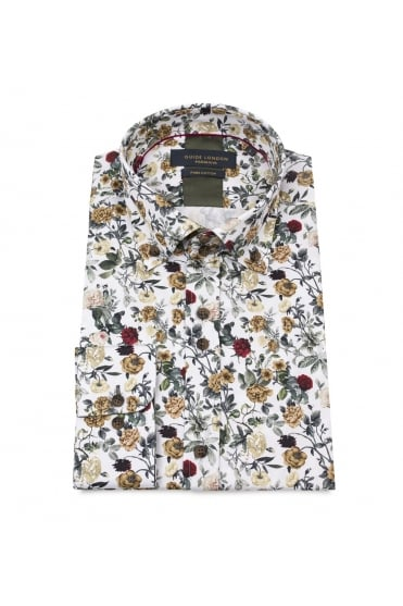 White Multi Flower Shirt 74548