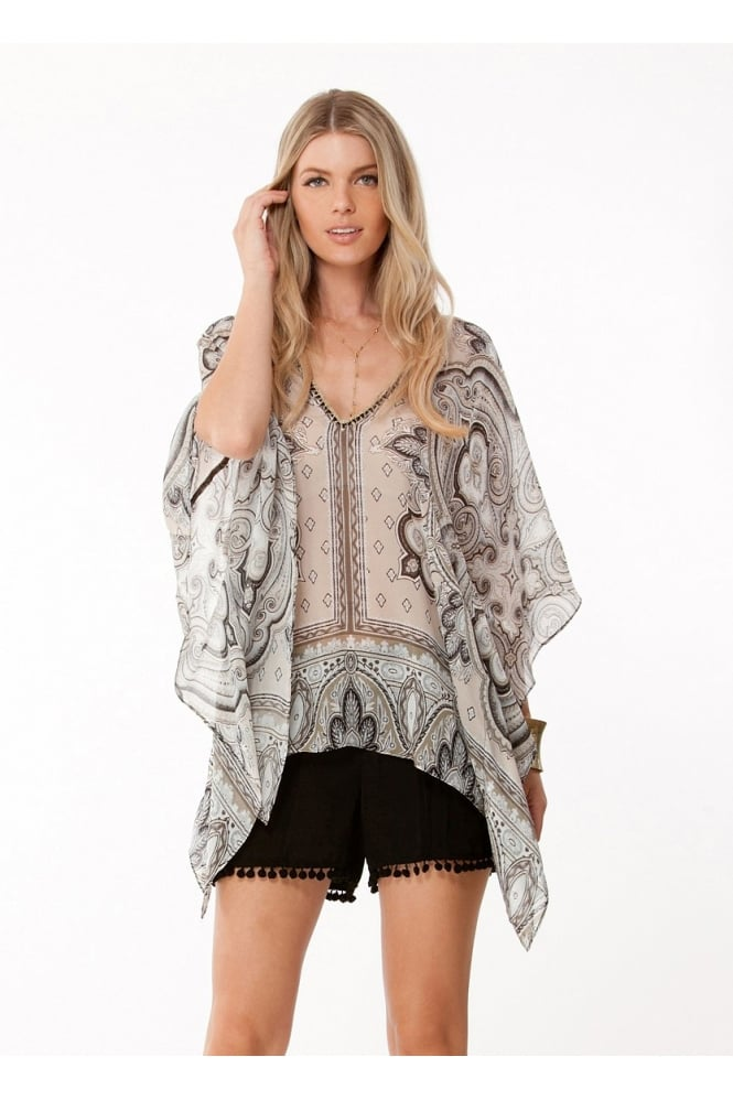 HALE BOB Draped Silk Tunic 6CLY2954