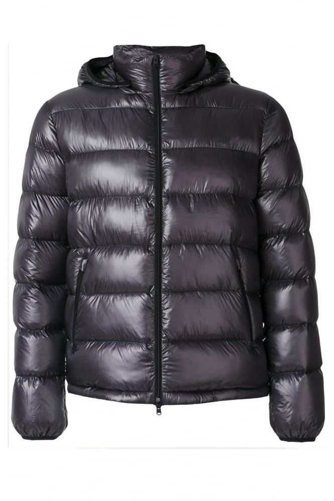 HERNO Men's PI0311U Padded Down Grey Jacket