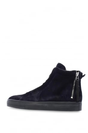 Kennel & Schmenger Navy Suede High Top Trainer 68-97410