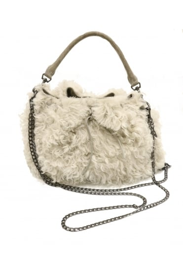 Kennel & Schmenger Women's 46-02790 Shearling Black or Beige Handbag