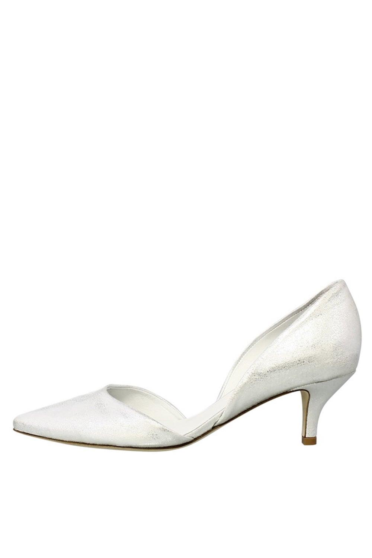 4255b633cf56 Kennel  amp  Schmenger Women  039 s 5146500 Metallic Kitten Silver Heel