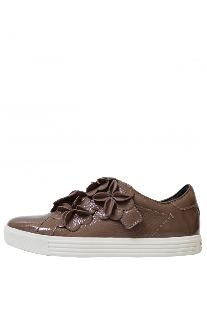 KENNEL & SCHMENGER Women's 6113750.759 Patent Flower Brown Trainers