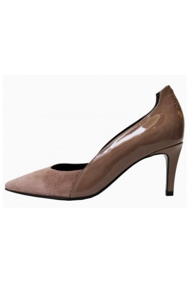 Kennel & Schmenger Women's Leather and Suede Nude Heel