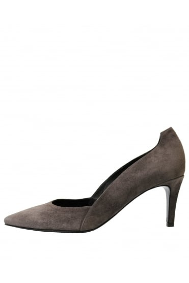 Kennel & Schmenger Women's Suede Stiletto Grey Heel