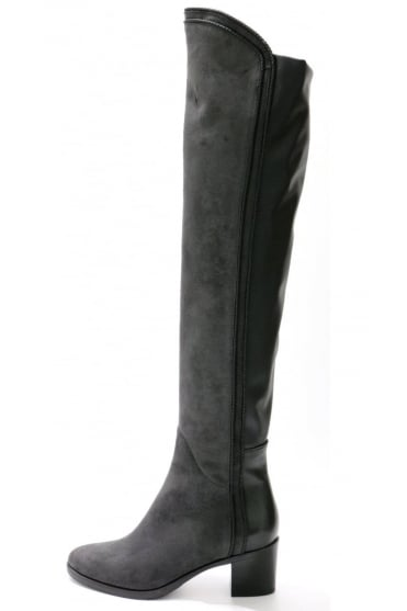 Le Pepe Women's A196374 Knee High Grey Boot