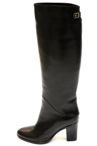 Le Pepe Women's A421868 Heeled Knee High Black Boots