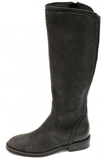 Le Pepe Women's B124962 Snake Knee High Grey Boot