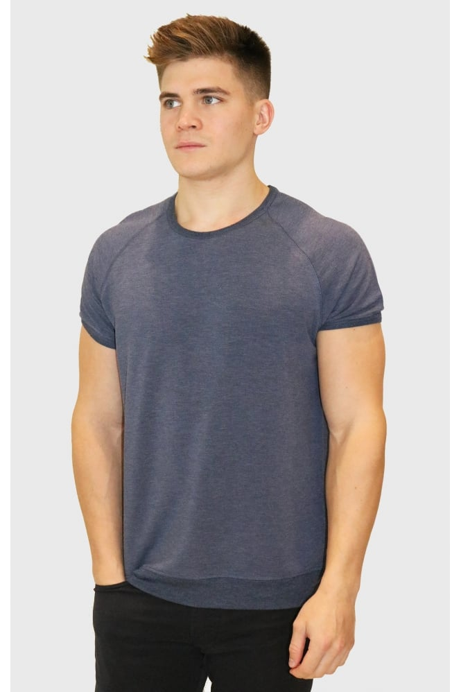 MAJESTIC FILATURES Men's W1711001 Short Sleeved Grey T-Shirt