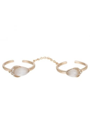 Gold Stone Double Ring 236