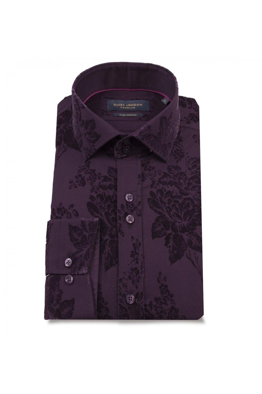 Guide London Men S Guide London Ls74871 Velvet Pattern Shirt Man From Piajeh Uk