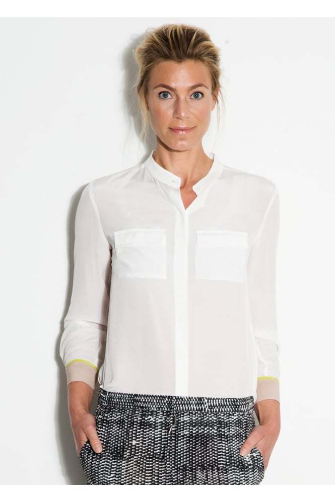 Mille Frydenberg White Coloured Cuff Shirt