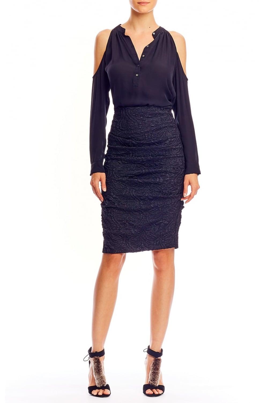 2fb49ade8 NICOLE MILLER Nicole Miller Women's BF10195 Textured Sandy Black ...