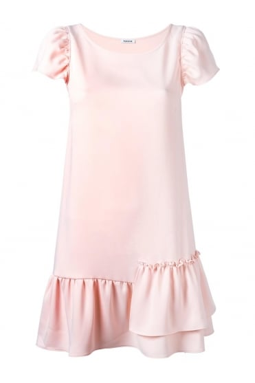 Parosh Women's D730192 Panterax Frill Pink or White Dress