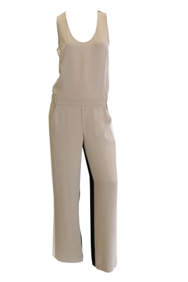 Parosh Women's D790004B Panterix Black and Cream Jumpsuit