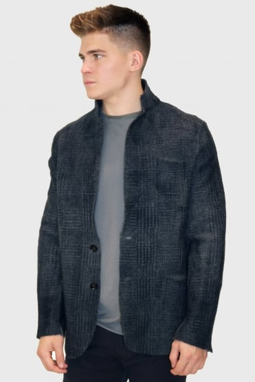Navy/Grey Knitted Jacket 23614