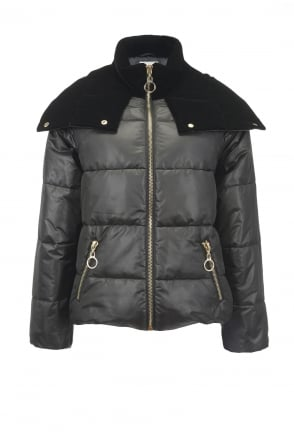 Pinko Frontera Black Puffa Down Jacket
