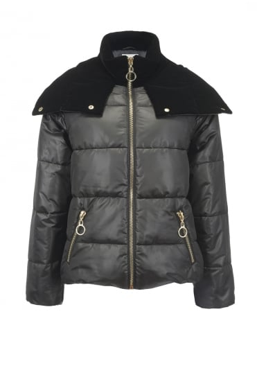 Frontera Black Puffa Down Jacket