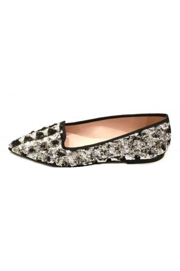 b73a55c63cbe Pretty Ballerinas Women s 43283 Silver Black Shoe