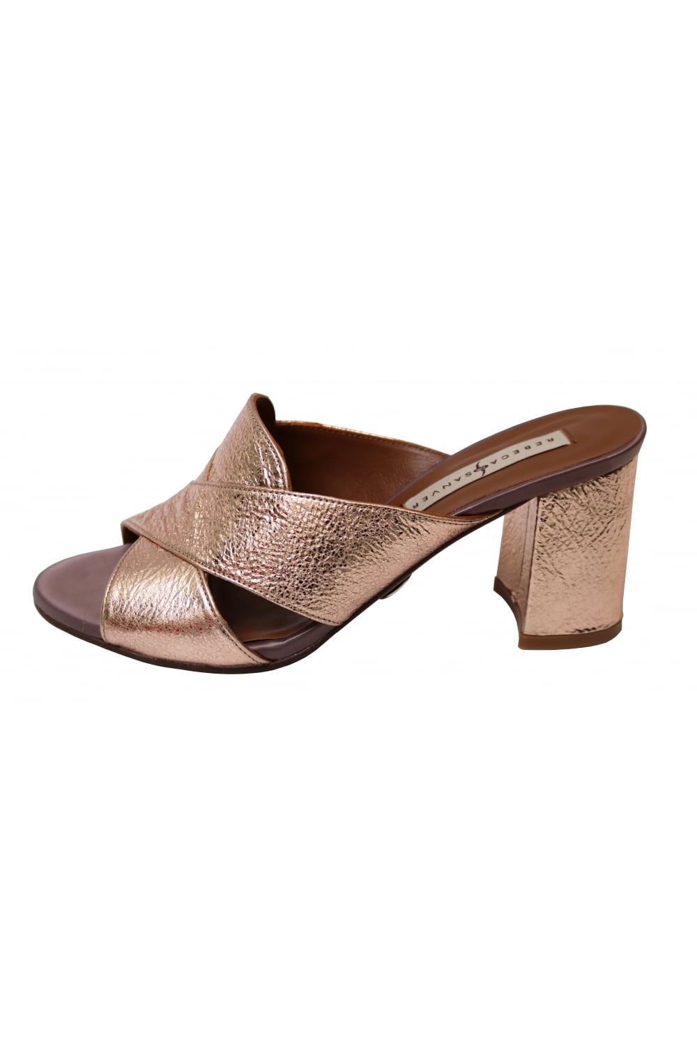 6edbc27b906e REBECCA SANVER Rebeca Sanver Women s Yael Yuna Mule in Rose Gold ...