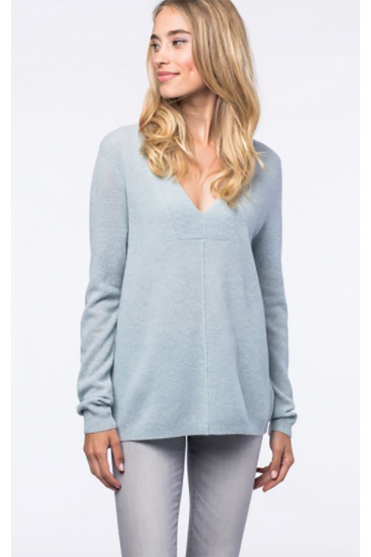 Blue Textured Cashmere Jumper 100034