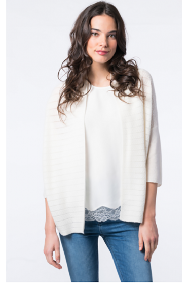Cashmere Cable Knit Cardigan 100113