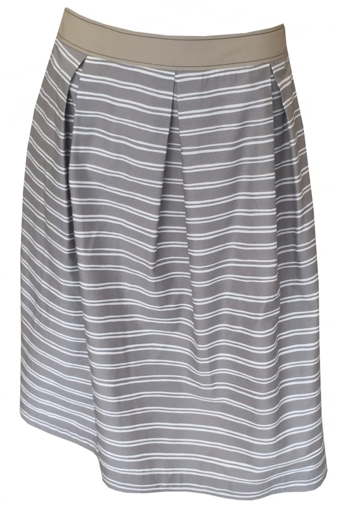 Rosso 35 Horizontal Striped Skirt S3153G