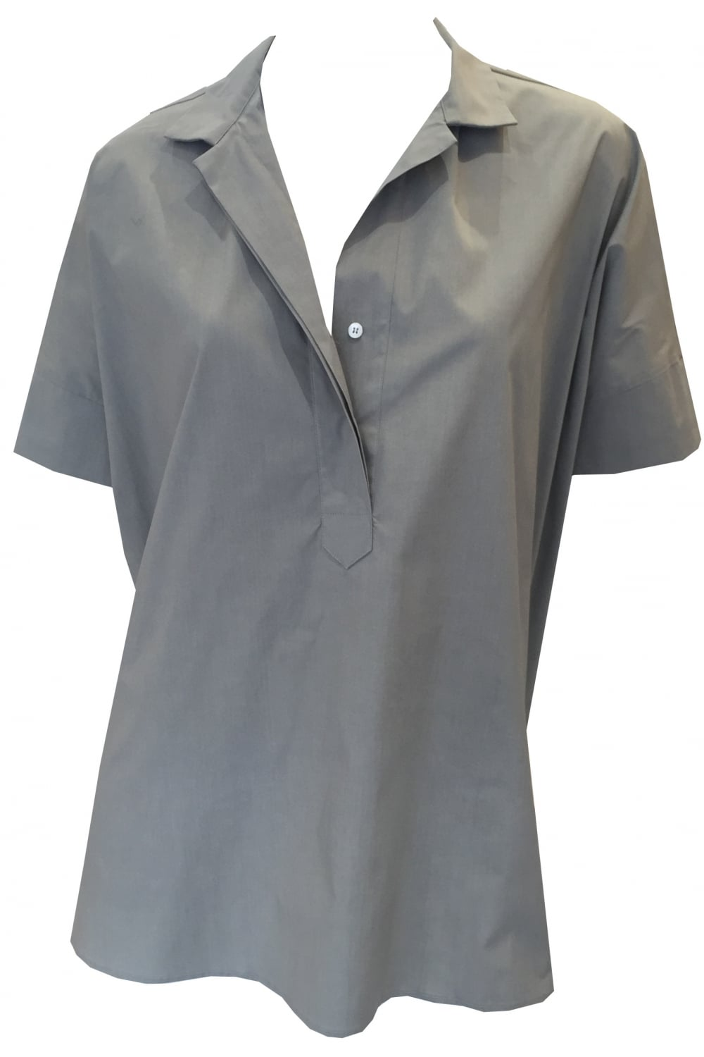 Rosso 35 Women's S3087T Oversized Short Sleeve Grey Shirt