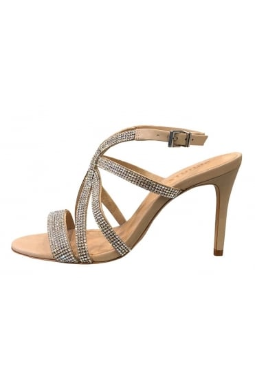 efa227b6a437ba Schutz Women s 020660114 Crystal Sparkly High Beige Heel