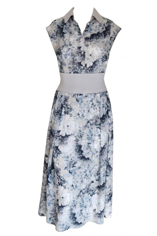 Shes So Abstract Flower Dress with Elasticated Waistband 3127/W