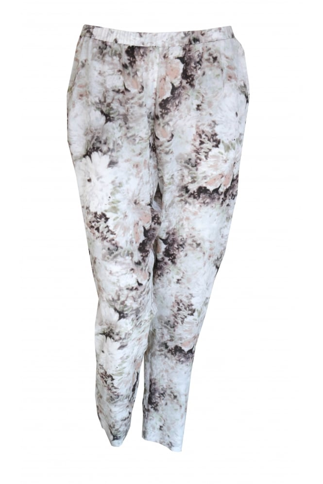 Shes So Abstract Flower Silk Trouser 3123/W