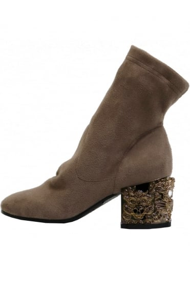 Strategia Women's A3494 Brown Ankle Boots