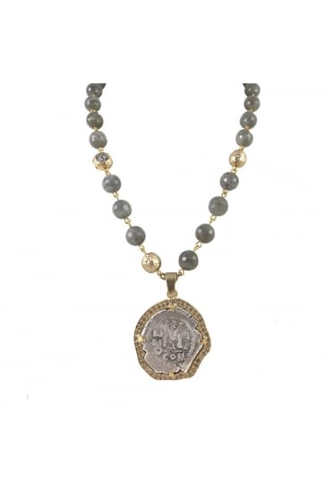 Molat Coin and Labradorite Necklace N539