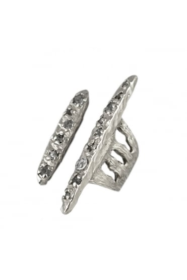 Murcia Floater Asymmetrical Hammered Ring R056
