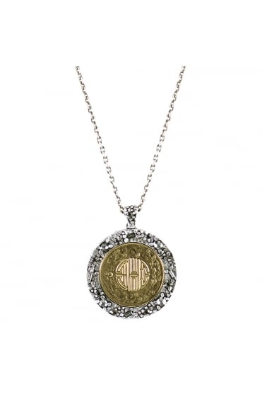 N435 TO-JI Maze Coin Necklace