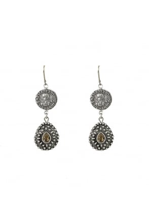 Tat2 Orai Coin and Tear Drop Earrings E157