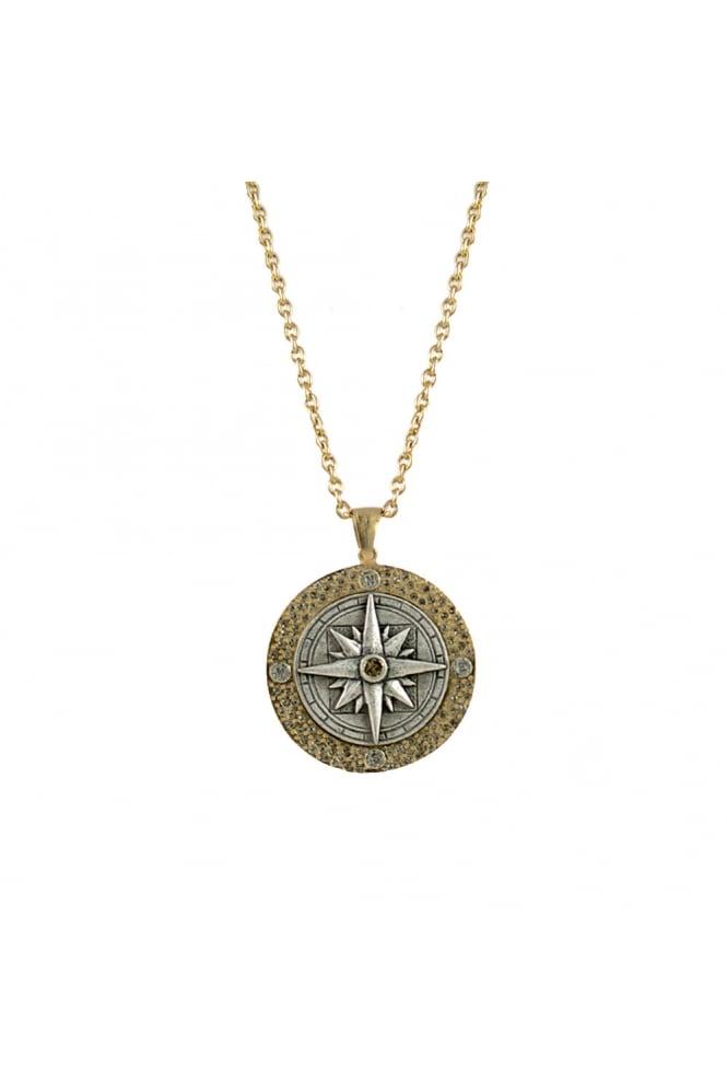 TAT2 Women's N401 Compass Gold or Silver Necklace