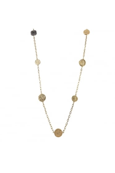 Tat2 Women's N533 Delhi Silver or Gold Necklace