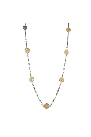 Tat2 Women's N534 Jaipur Coin Long Silver/Gold Necklace
