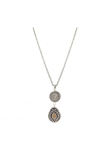 TAT2 Women's N535 Orai Vintage Coin Gold or Silver Necklace