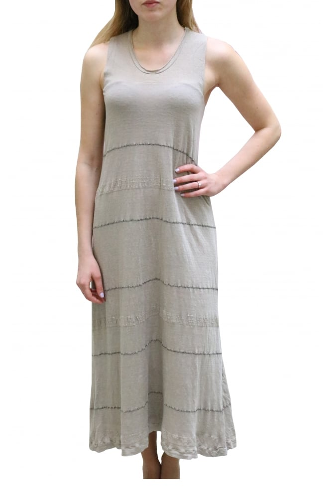Transit Striped Sleeveless Maxi Dress CFDTRCD133