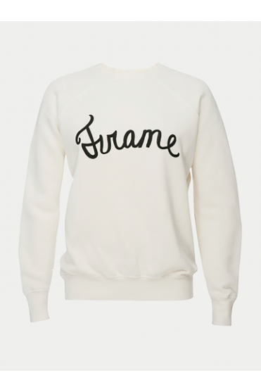White Old School Frame Sweatshirt