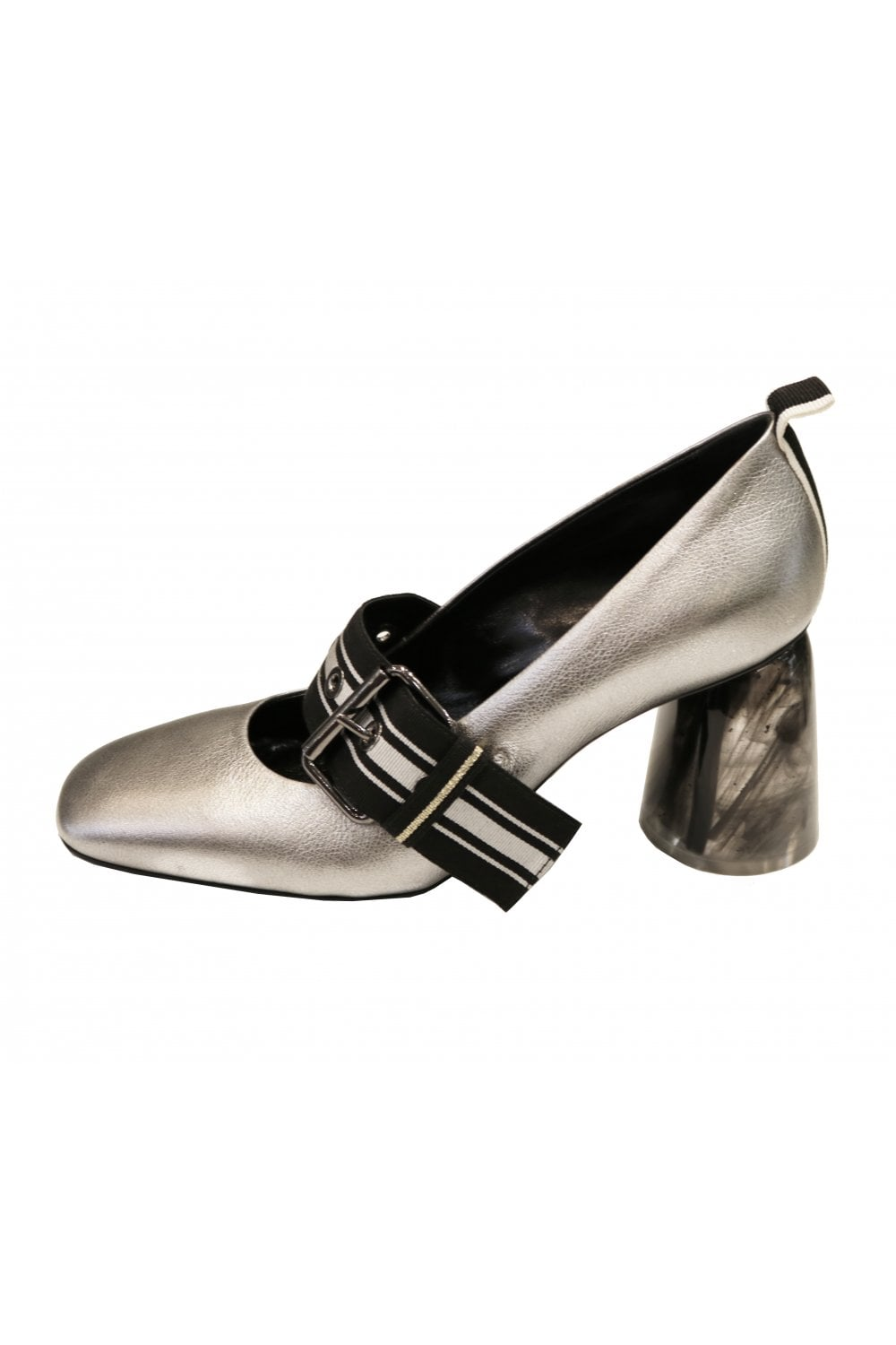 newest 4fa0d 6f683 Women's 1658 Mary Janes with Resin Block Heel in Silver