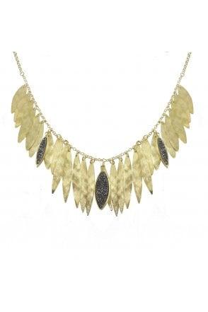 75fe0cbf2 Women's Marcia Moran BPL 229 Cienega Stone Embellished Bib Necklace in Gold